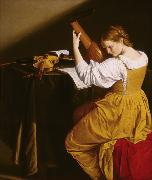 GENTILESCHI, Orazio The Lute Player (mk08) oil painting picture wholesale
